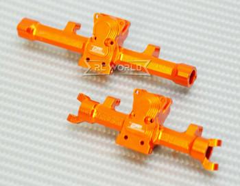 GPM Axial SCX24 METAL AXLES Front + Rear Upgrade Aluminum (2pcs) ORANGE
