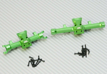 GPM 1/24 Axial SCX24 Metal AXLE HOUSING Front + Rear GREEN