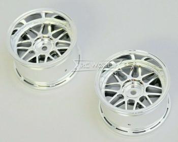 Kawada 1/10 Car Wheels MESH Chrome WIDE SET 32mm (2PCS) #TU38C