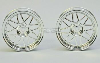 Kawada 1/10 Car Wheels MESH CHROME Narrow SET (2PCS) 26mm #TU37C