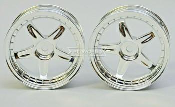 Kawada 1/10 Car Wheels 5 STAR CHROME Narrow SET (2PCS) 26mm #TU35C
