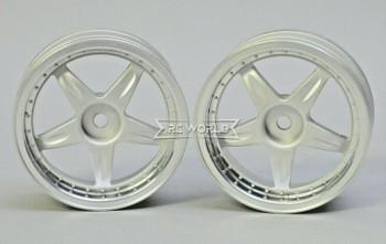 Kawada 1/10 Car Wheels 5 STAR PLATED Narrow SET (2PCS) 26mm #TU45P