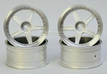 Kawada 1/10 Car Wheels 5 STAR PLATED Narrow SET (4PCS) 50mmx26mm #TU35WP