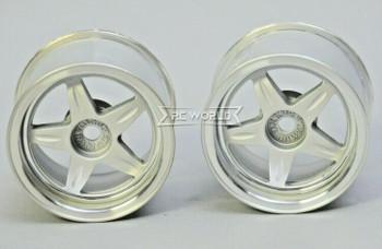 Kawada 1/12 Car Wheels 5 STAR WIDE - PLATED -(2PCS) #TUM37P