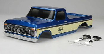 RC 1/10 Truck Body 1976 FORD F150 Pick Up* Finished* -BLUE- 324MM