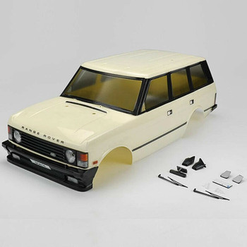 RC 1/10 1981 Land Rover Range Rover Truck Body Shell -Finished- WHITE