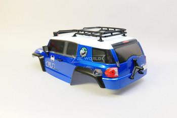 1/10 RC Truck Body TOYOTA FJ 313mm w/ LED Lights  -BLUE-