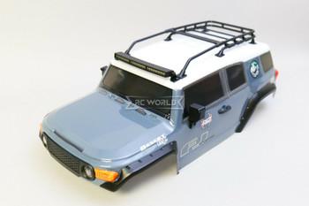 1/10 RC Truck Body TOYOTA FJ 313mm w/ LED Lights  -GREY-