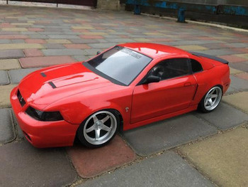 1/10 RC Car BODY Shell FORD MUSTANG COBRA *Unpainted* CLEAR