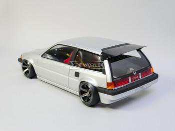 1/10 RC Car BODY Shell HONDA CIVIC Hatch EW3 200mm *FINISHED* Silver