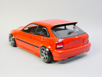 1/10 RC Car BODY Shell HONDA CIVIC Hatch SI 200mm *FINISHED* Red