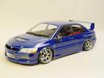 1/10 RC Car BODY Shell Mitsubishi EVO 9 *FINISHED* 190mm BLUE