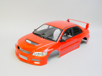1/10 RC Car BODY Shell Mitsubishi EVO 9  *FINISHED* 190mm RED