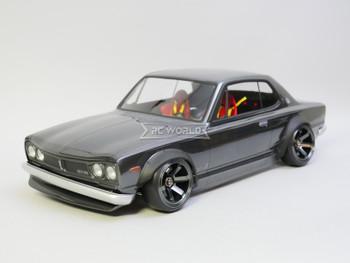 1/10 RC Car BODY Shell NISSAN Skyline Ht 2000 GTR  *FINISHED* 200mm Gun Metal
