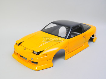 1/10 RC Car BODY Shell Nissan 180 w/ Pop Up Light *FINISHED* 200mm Orange