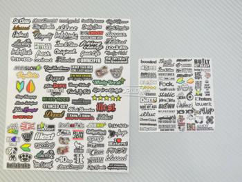 RC 1/10 DRIFT DECALS Logo Sponsors Decals Sticker 2 PCS  #A