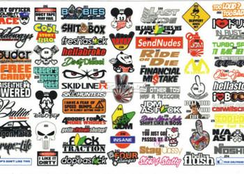 RC 1/10 DRIFT DECALS Logo Sponsors Decals Sticker 2 PCS  #B