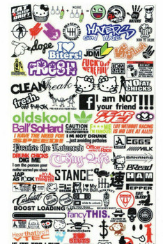 RC 1/10 DRIFT DECALS Logo Sponsors Decals Sticker 2 PCS  #D