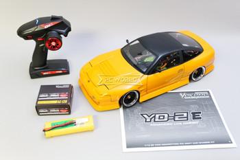 Custom 1/10 Yokomo RC Nissan 180SX DRIFT RWD W/ Pop Up Lights RTR -ORANGE-