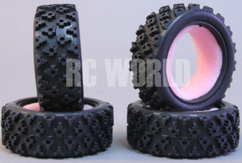 RC Car 1/10 RALLY WRC RUBBER TIRES Package W/ Foam Inserts *SET OF 4*