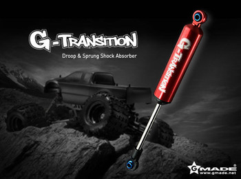 Gmade G-Transition Shocks Suspension For 1/8 Crawler 90mm RED (4PCS) #GM20701
