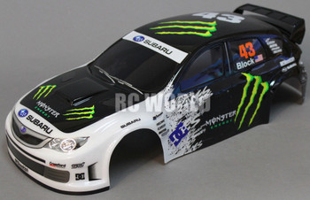 1/10 RC BODY Shell SUBARU IMPREZA STI MONSTER 190mm