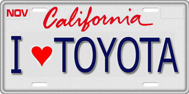 1/10 SCALE LICENSE PLATE FOR RC CAR * I LOVE TOYOTA *
