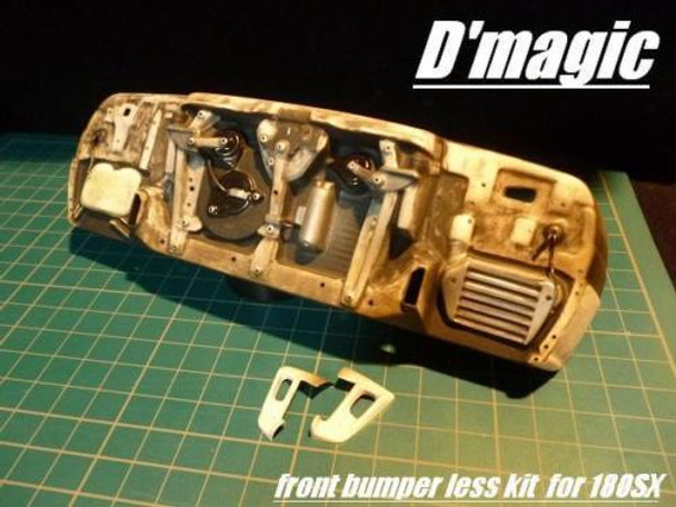 D'Magic 1/10 RC Car Exposed FRONT BUMPERLESS Kit For NISSAN 180SX Body -clear-