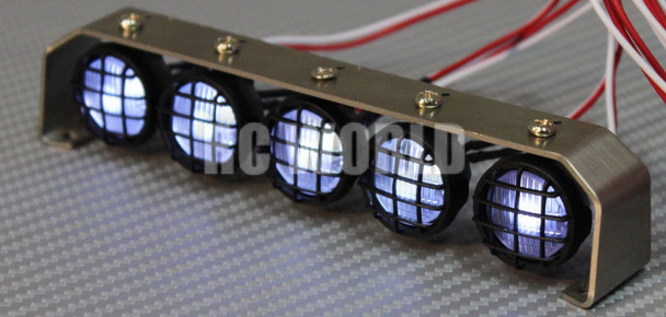 R C Scale Accessories All Metal LIGHT BAR WITH L.E.D LED LIGHTS