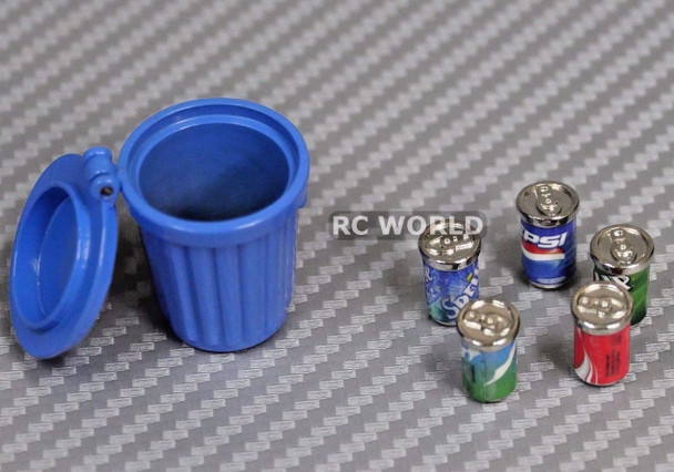 RC 1/10 Scale Accessories METAL BUCKET OF SODAS Set
