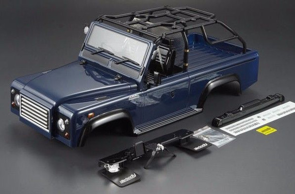 Scale RC Truck Body Shell 1/10 MARAUDER Rock Crawler SCX10 +SNORKLE - BLUE-