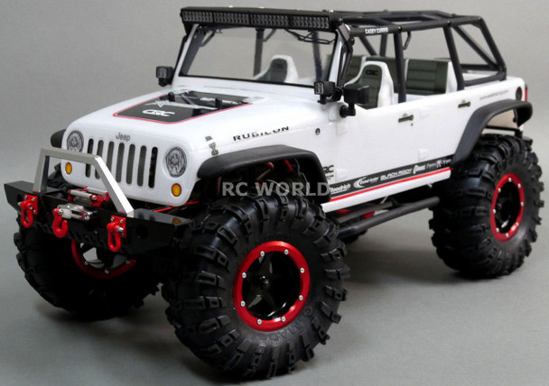 For Axial SCX10 METAL FRONT + Rear BUMPERS Bull Nose + Rear Bumper Carrier Set