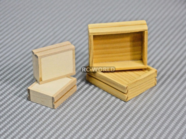 RC 1/10 Scale Accessories WOOD CASE BOX CRATE Set (4 pcs)