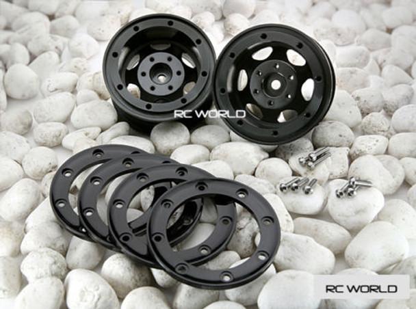 Axial SCX10 2 Rims Wheels 2.2 BEADLOCK ROCK CRAWLER Wheels + TIRES SET