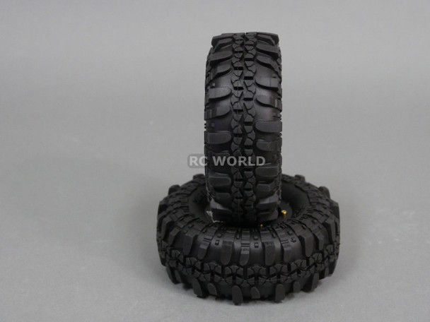 Axial 1/10 Scale Truck Rims 1.9 BEADLOCK Metal Aluminum BLACK w / SUPER SWAMPERS