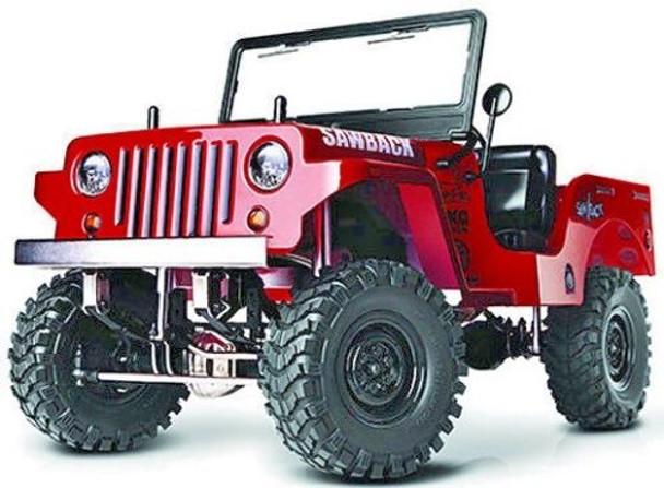 RC Truck Body Shell 1/10 SawBack JEEP WRANGLER WILLYS Military Jeep - #gm40020