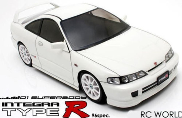 1/10 RC Body Shell ACURA INTEGRA TYPE R 190 mm Car Body w/ LIGHT BUCKETS
