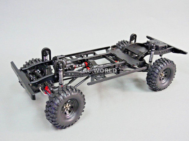 RC New Land Rover Defender 110 TRUCK D110 CHASSIS Metal Custom Rolling Chassis