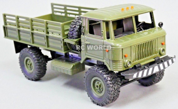 1/16 RC 4WD Truck ROCK CRAWLER Scale MILITARY Truck LED + Suspension