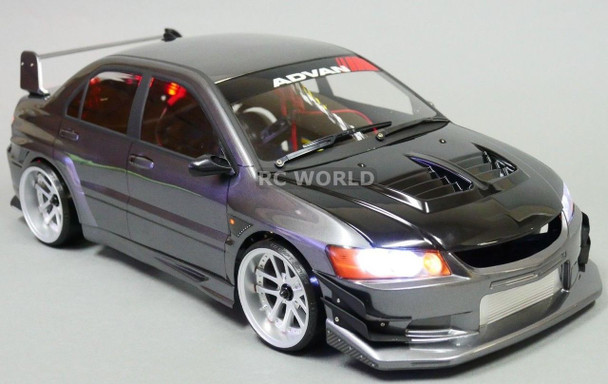 Custom 1/10 RC Drift MITSUBISHI EVO VOLTEX Rocket Bunny L.E.D Lights -gm