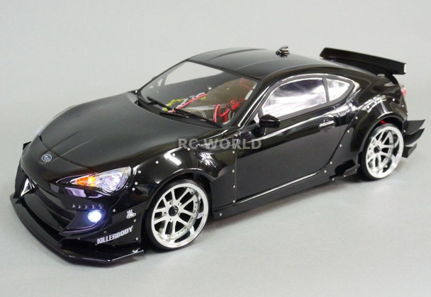 Custom 1/10 RC Drift 86 BRZ SCION FRS ROCKET BUNNY DRIFT L.E.D Lights - BLACK