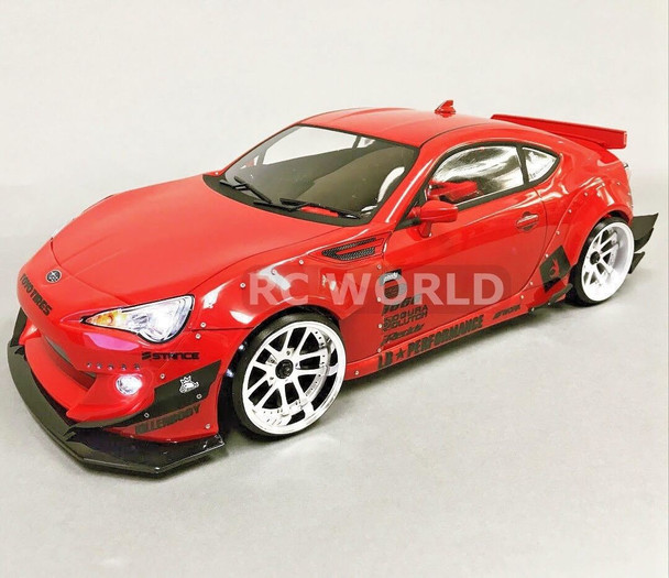 Custom 1/10 RC Drift 86 BRZ SCION FRS ROCKET BUNNY DRIFT L.E.D Lights - RED