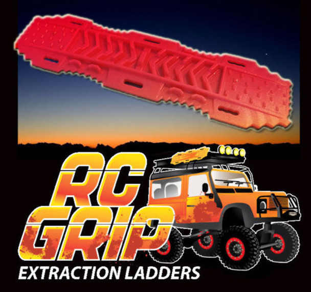 RC Truck Rock Crawler Scale Accessories RECOVERY RAMPS Extraction LADDER Red