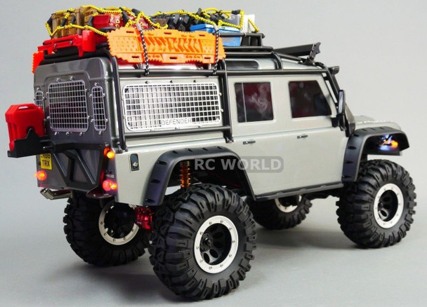 For Traxxas TRX-4 METAL WINDOW GUARD MESH For DEFENDER 90 Black (5PCS)