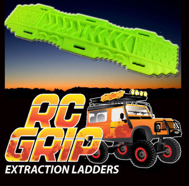 RC Truck Rock Crawler Scale Accessories RECOVERY RAMPS Extraction LADDER Green