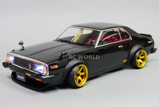 Custom RC 1/10 Drift NISSAN SKYLINE HT 2000 GTR AWD DRIFT RTR W/ LEDS Black