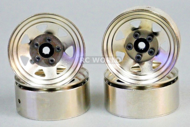 RC 1/10 Scale METAL STEEL STAMPED Truck Rims WheelS 1.9 (4 RIMS) SILVER