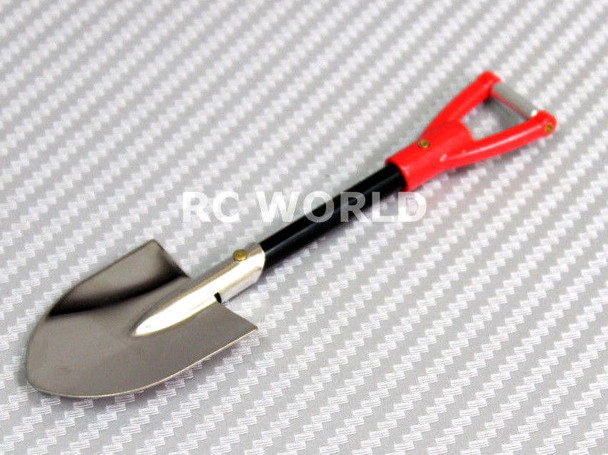 RC 1/10 Scale Accessories Metal Shovel Red Handle
