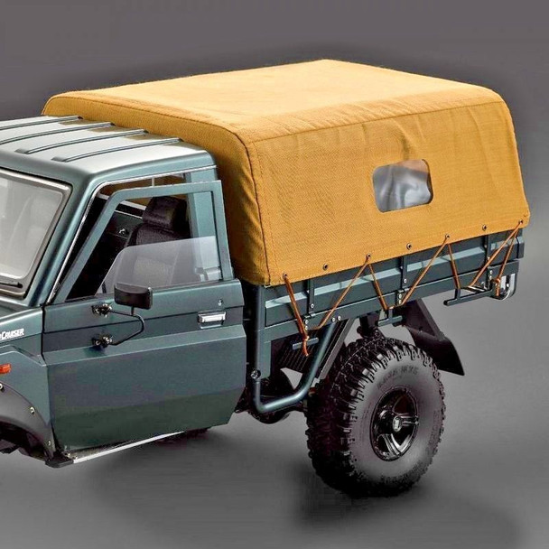 1/10 Scale TRUCK BED COVER Canvas For Pick Up Trucks LC70 Land Cruiser