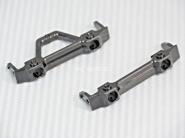 Axial SCX10-2 UpGraded METAL BUMPER BRACKET MOUNTS Front + Rear Set